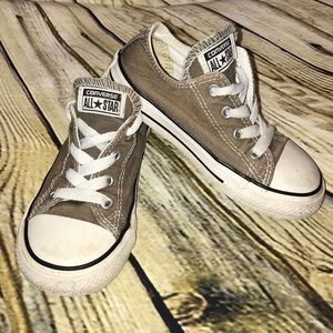 Brown Converse shoes
